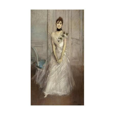 White Pastel, Portrait of Emiliana Concha De Ossa Print Wall Art By Giovanni Boldini