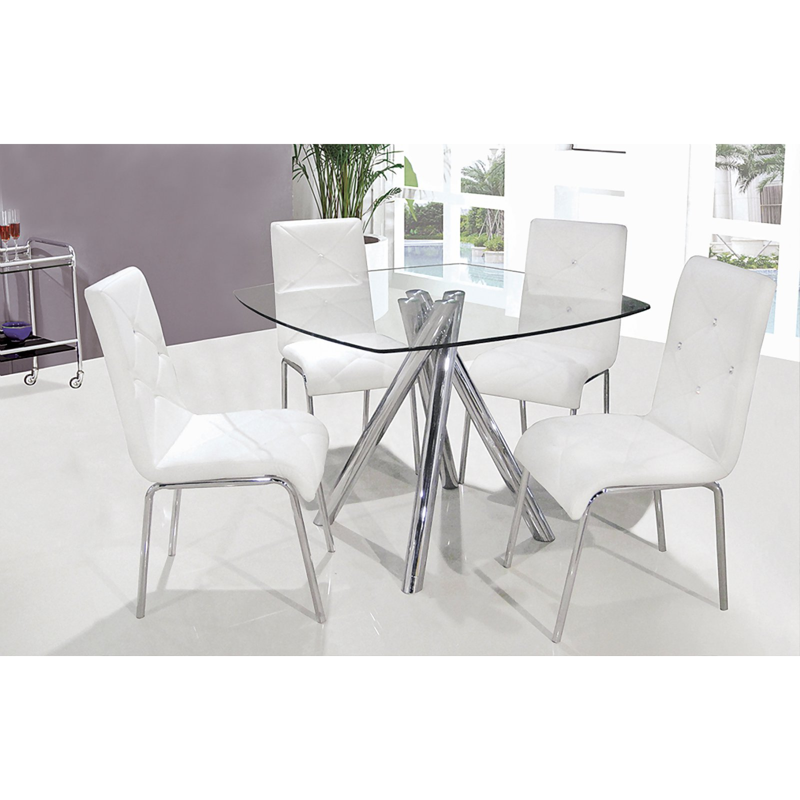 Best Master Furniture Square 5 Piece Dining Table Set
