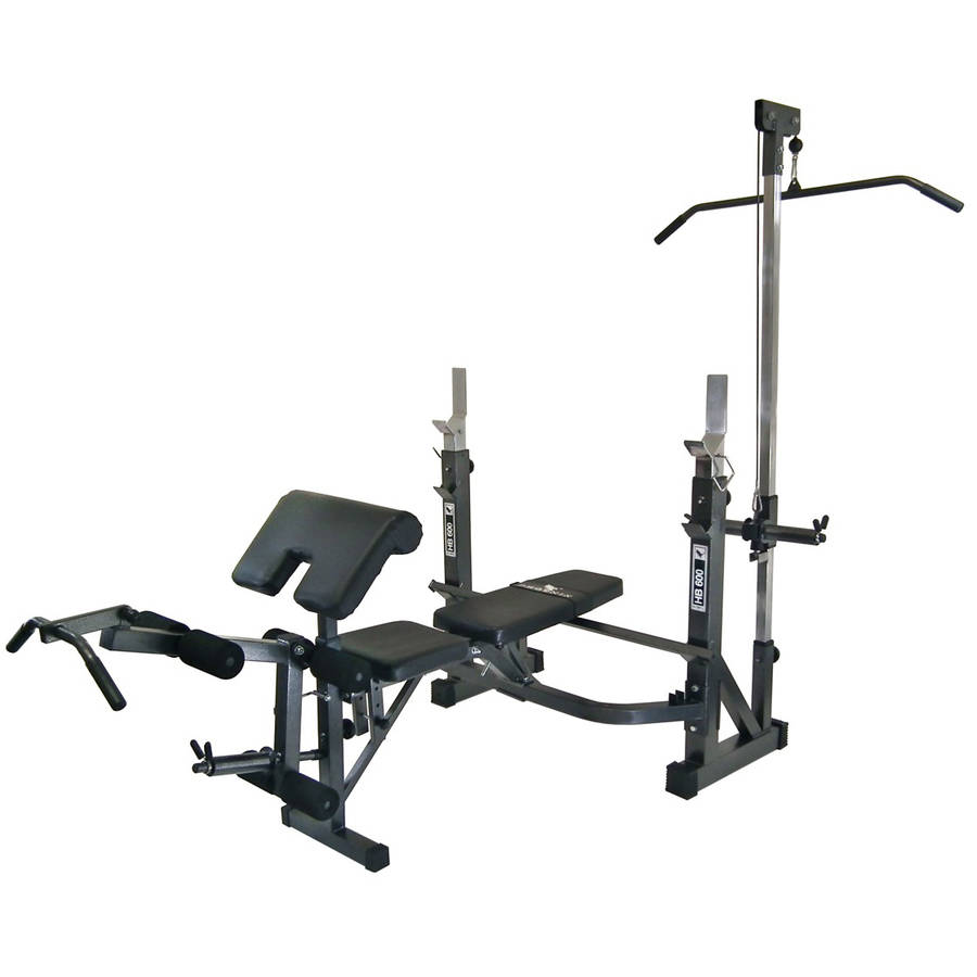 Phoenix 99226 Olympic Bench, weight bench with lat pulldown,foldable flat bench