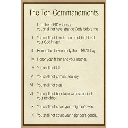 - The Ten Commandments - Catholic Print Wall Art