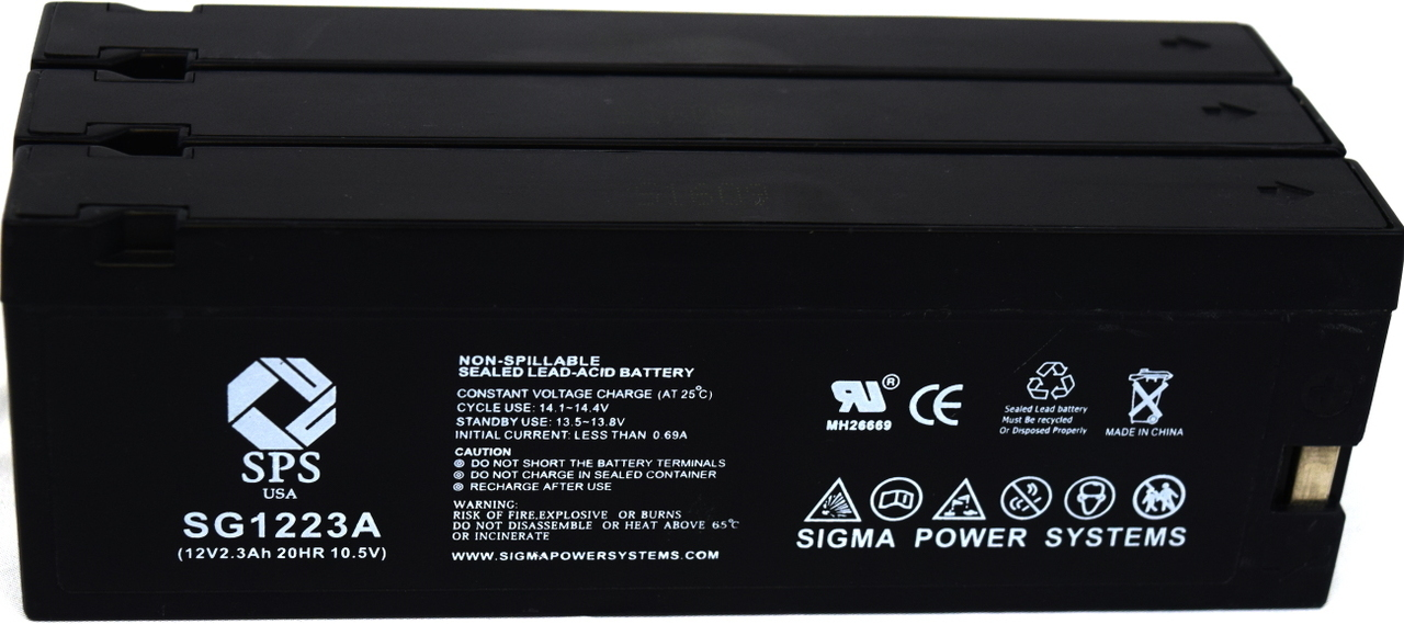 SPS Brand 12V 2.3 Ah (Terminal A) Replacement for Curtis Mathes BV-880 (Camcorder Battery) ( 3 PACK) by Sigma Power Systems
