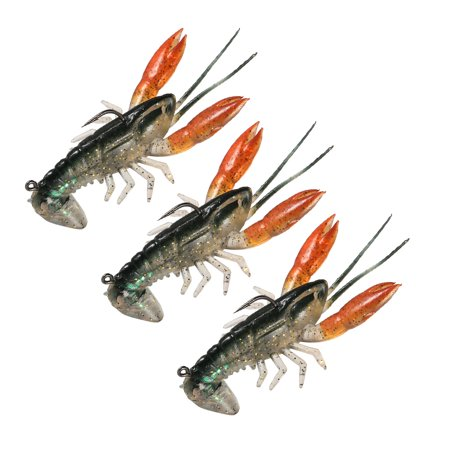 Lixada 8cm / 14g Soft Crawfish Shrimp Lobster Claw Bait Artificial Lure Bait Swimbait
