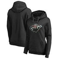 Minnesota Wild Fanatics Branded Women's Lovely Plus Size Pullover Hoodie - Black
