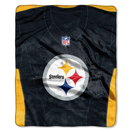 """Pittsburgh Steelers The Northwest Company 50"""" X 60"""" Jersey Plush Blanket - No Size"""