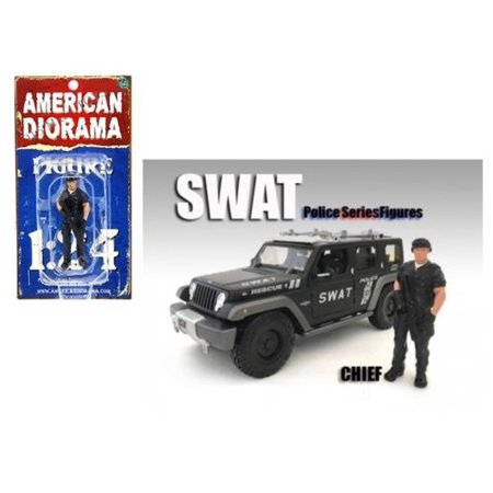 AMERICAN DIORAMA 1:24 SWAT TEAM - CHIEF (FIGURE ONLY VEHICLE NOT INCLUDED) AD-77468