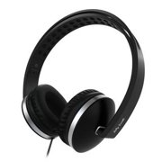 On Ear Headphones with Microphone, Jelly Comb Foldable Corded Headphones Wired Headsets with Microphone, Volume Control for Cell Phone, Tablet, PC, Laptop, MP3/4, Video Game (black)
