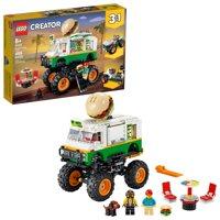 LEGO Creator 3in1 Monster Burger Truck 31104 Vehnicle Building Kit for Kids (499 Pieces)