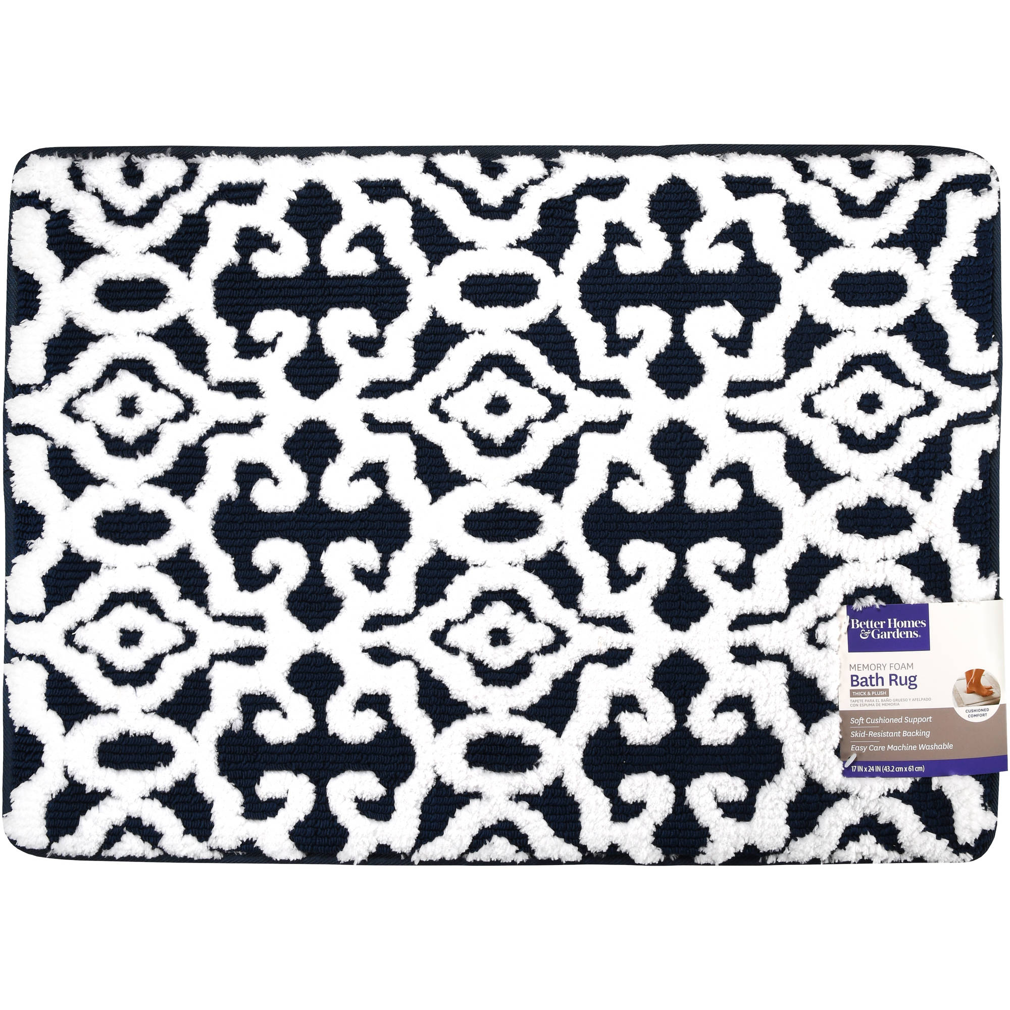 Better Homes and Gardens Noodle Jacquard Memory Foam Bath Rug