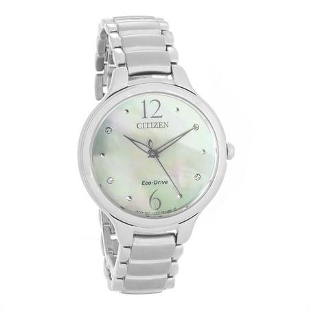 Citizen Stainless Steel Watch (Citizen EM0550-59D Women's L Eco-Drive White MOP Dial Stainless Steel Bracelet)