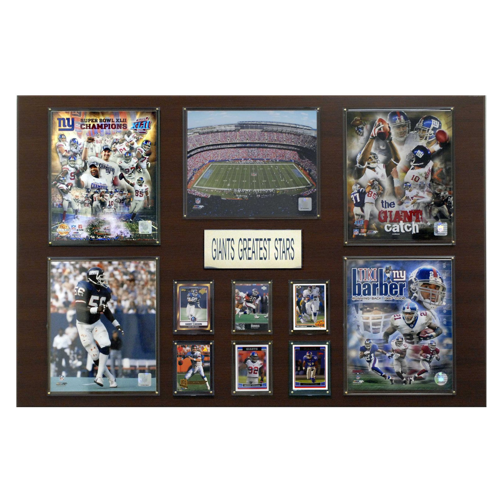 NFL 24 x 36 in. New York Giants Greatest Star Plaque