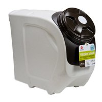 Gamma2 Vittles Vault Home Stackable Pet Food Storage Container, Grey & Black, 26 Lb