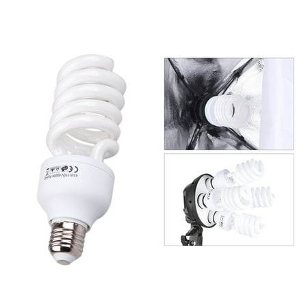 E27 110V 5500K 45W Photo Studio Bulb Video Light Photography Daylight