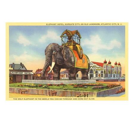 Elephant Hotel, Atlantic City, New Jersey Print Wall Art (Party City Atlantic)