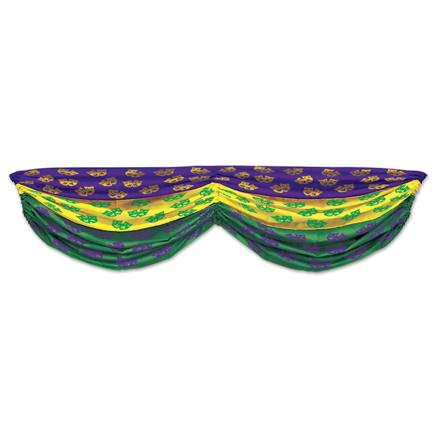 """Pack of 6 Green, Yellow and Purple """"Comedy & Tragedy Mask..."""