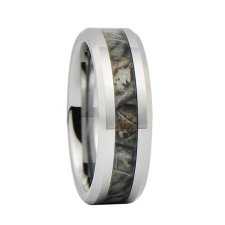 Unisex Camo Hunting Brown/Green Camouflage 7mm Tungsten Wedding Band Ring](Camo Ring)