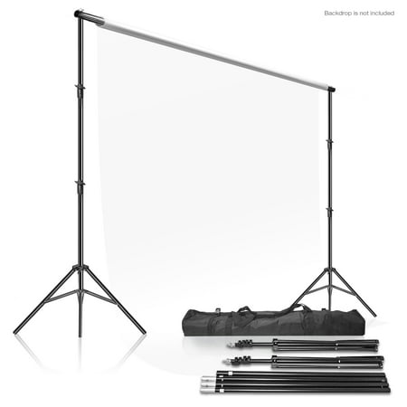 LS Photography Photo Video Studio 10' x 9.4' (W x H) Adjustable Muslin Backdrop Stands, Background Backdrop Support System Kit with Carrying Case Bag, WMT1010