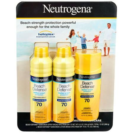Neutrogena Beach Defense SPF 70 Sunscreen Spray & Lotion Mix Pack