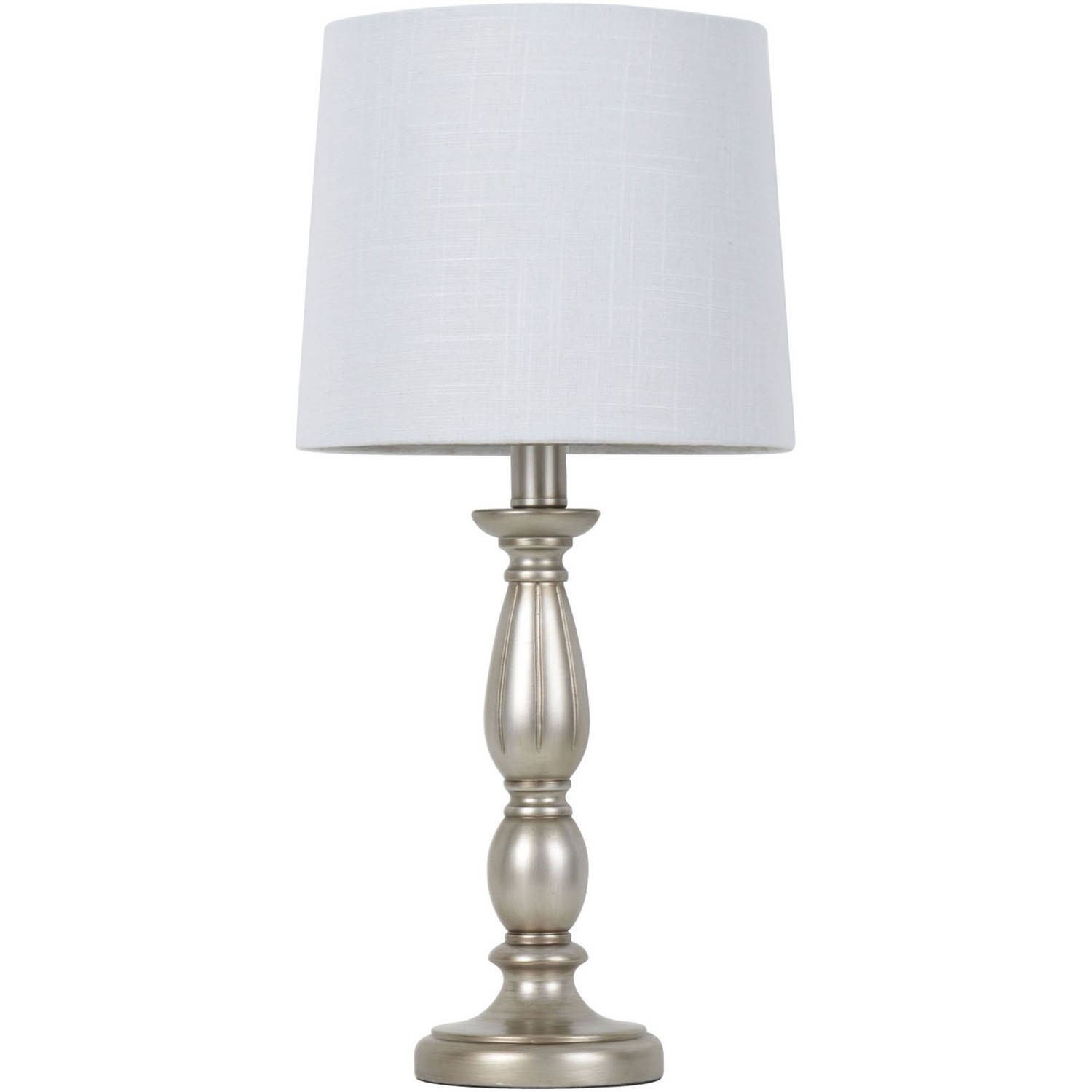 Mainstays Antique Silver Turned Resin Table Lamp by JIMCO LAMP CO.
