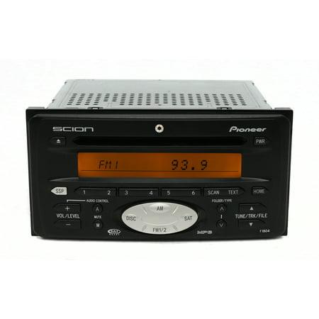 Scion xA xB tC Toyota 04-12 Radio AM FM Sat mp3 CD w Aux Input T1804 DEH-M8047Zt - Refurbished