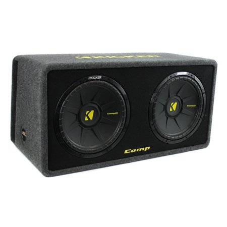 Kicker 10 Inch 1200 Watt Dual Loaded Car Audio Subwoofer Enclosure 40DCWS102