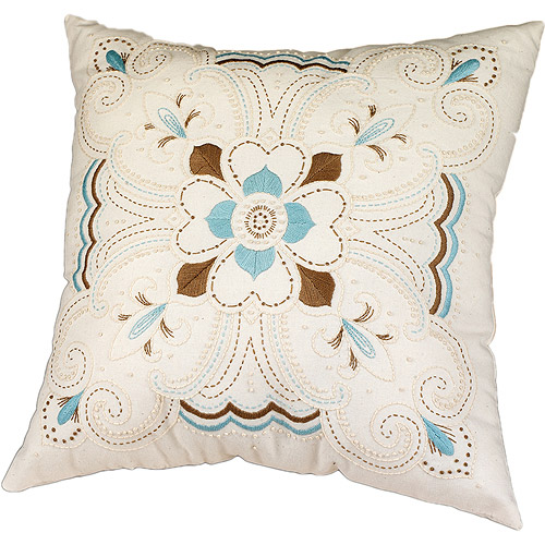 "Kaleidoscope Pillow Candlewicking Embroidery Kit, 14"" x 14"""