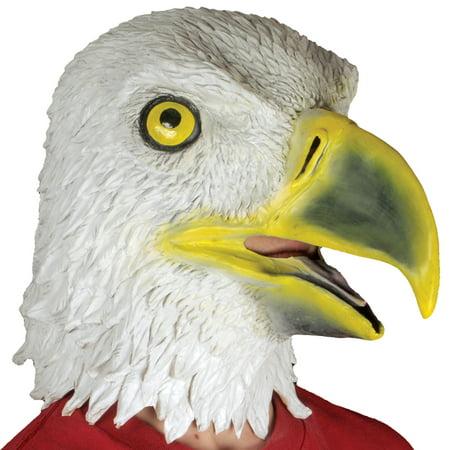 Loftus Novelty Realistic Eagle Full Head Animal Mask, White Yellow, One Size