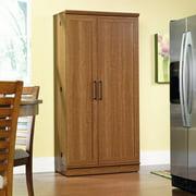 "Sauder HomePlus 71"" Tall 2 - Door Multiple Shelf Wood Storage Cabinet, Sienna Oak Finish"