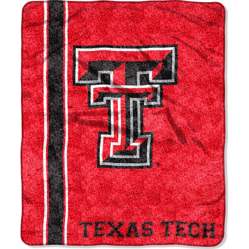 "NCAA 50"" x 60"" Sherpa Throw, Texas Tech"