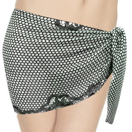 1598d1c6d9789 HAPPY BAY - HAPPY BAY Beach Wrap Short Sarong Cover ups Women Mini Swimwear  Chiffon Black - Walmart.com
