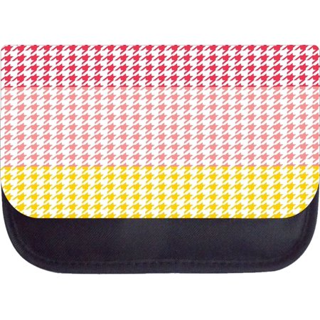 Red pink yellow colorblock houndstooth 5