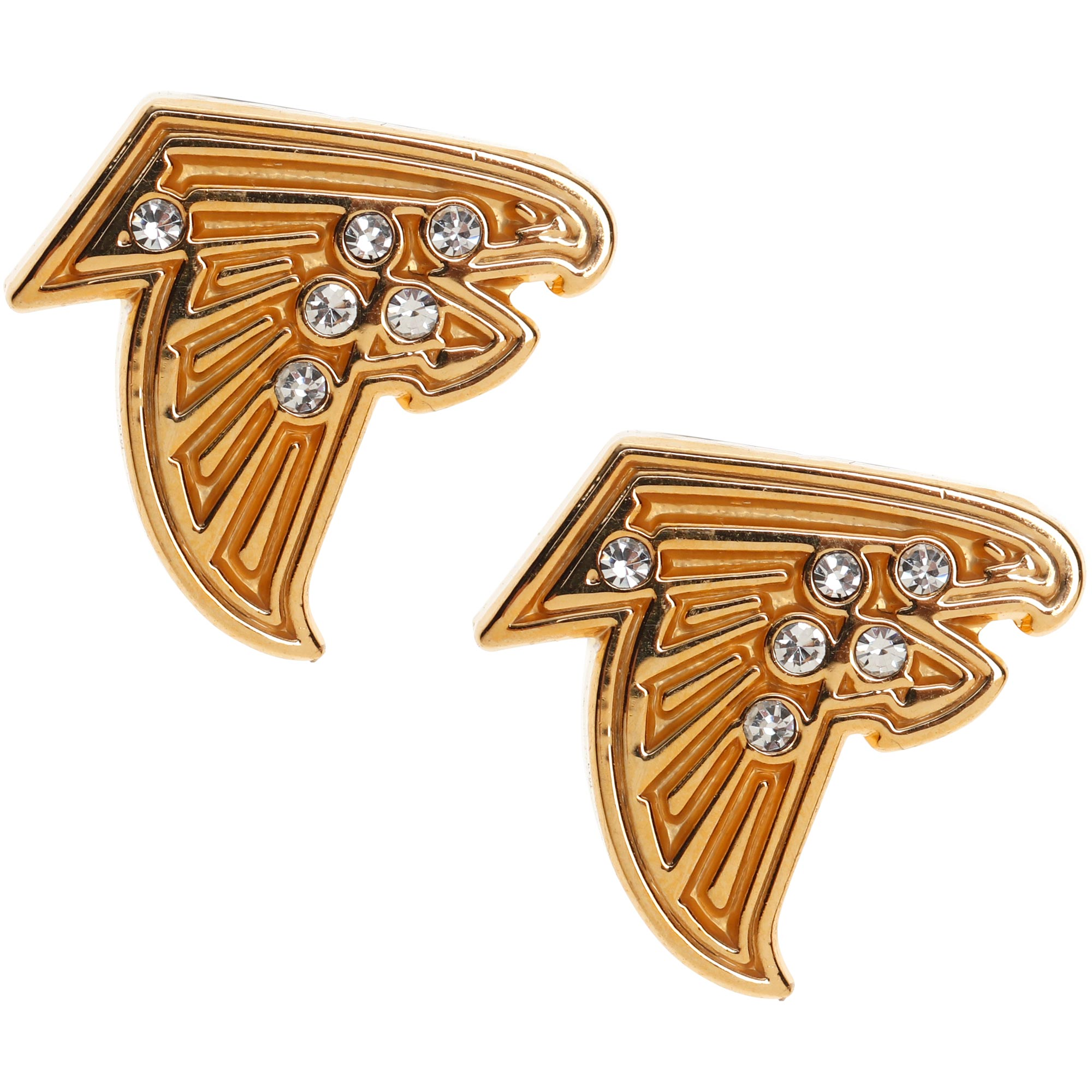 Atlanta Falcons WinCraft Women's Crystal Pave Earrings - Gold - No Size