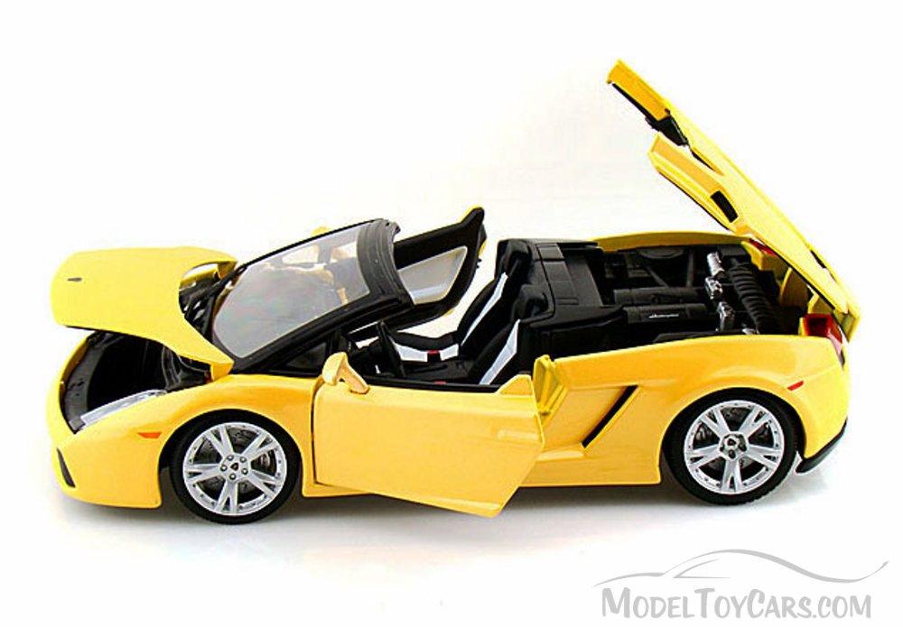 Lamborghini Gallardo Spyder Convertible, Yellow   Bburago 12016   1/18  Scale Diecast Model Toy Car   Walmart.com