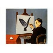 La Clairvoyance Art Print By Rene Magritte - 27.5x20