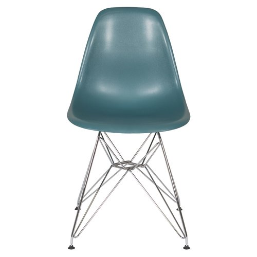 Eames Style Dining Chair with Metal Eiffel Base