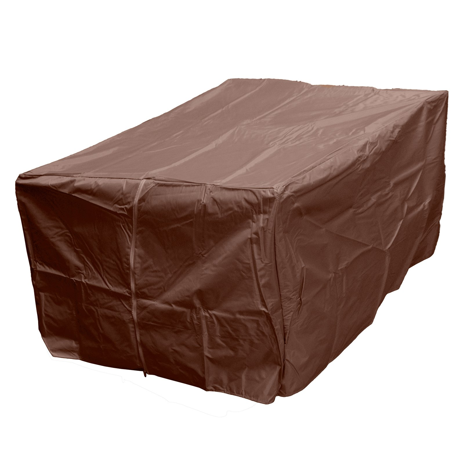 Hiland Heavy-Duty Rectangular Firepit Cover, Mocha