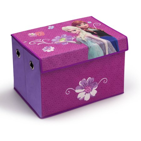 Disney Frozen Fabric Collapsible Toy Box by Delta (Best Disney Toys & Child Bookends)
