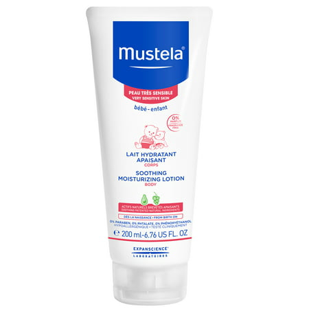 Mustela Baby Soothing Moisturizing Body Lotion, for Very Sensitive Skin, Fragrance-Free, 6.76 (Best Baby Soothing Products)