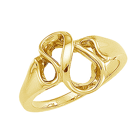 Round Loop Earrings - 14K Yellow Gold Contemporary Loop Ring