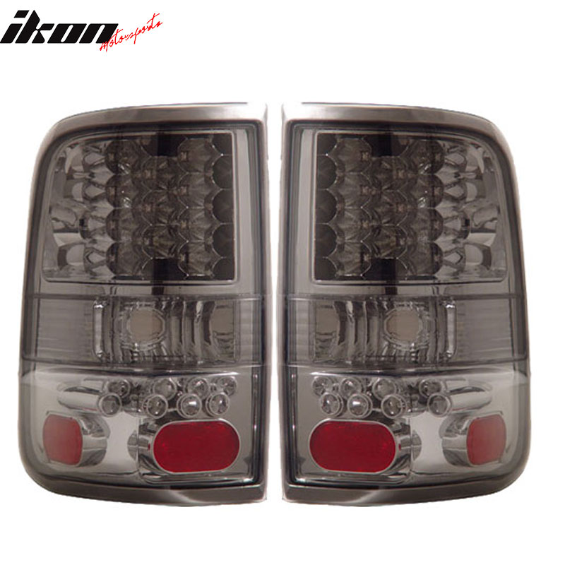 Fits 04-08 Ford F-150 LED Tail Lights Lamps Smoke Lens Pair