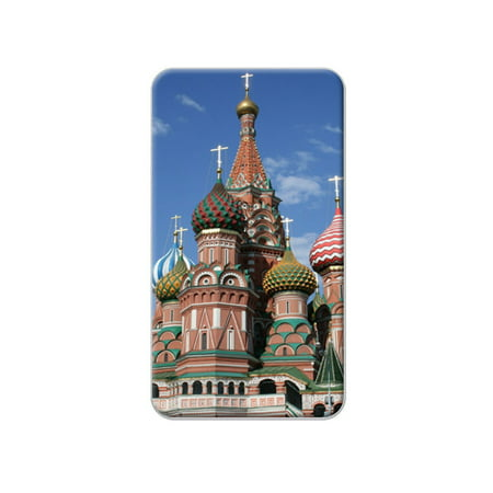 Square Lapel Pin (Kremlin St Basil's Cathedral Russia Red Square Lapel Hat Pin Tie Tack)