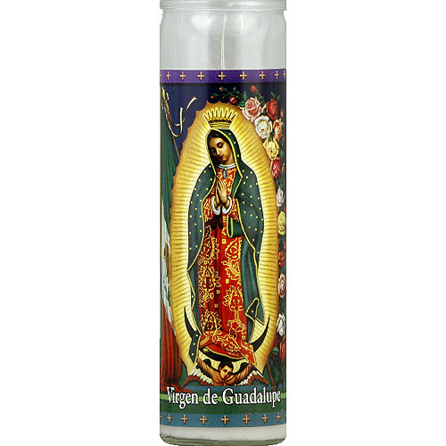 St. Jude Candle Company Dual Saint White Candle, (Pack of 12)