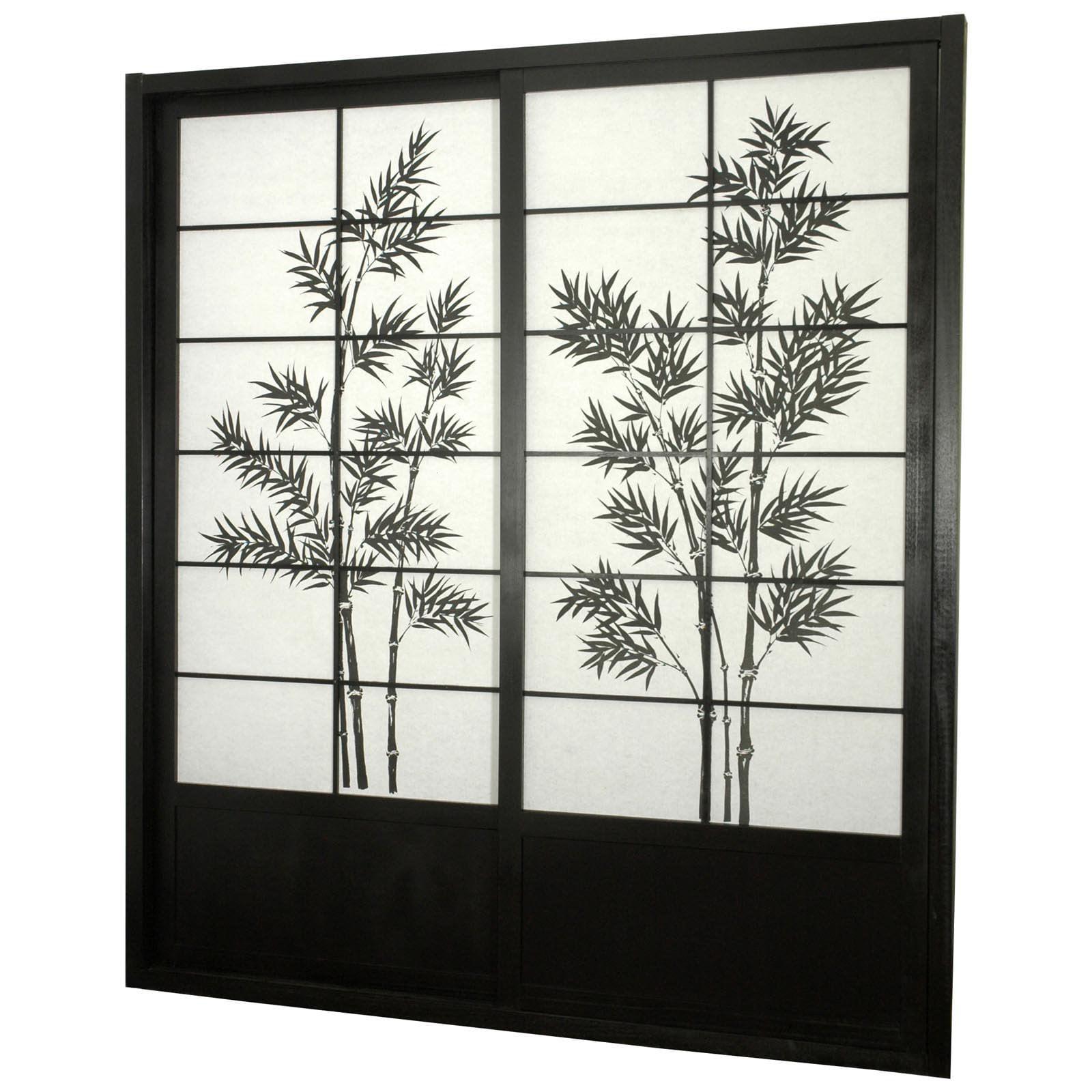 oriental furniture bamboo tree shoji sliding door kit walmart com