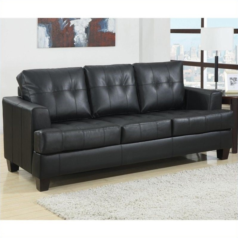 Kingfisher Lane Faux Leather Tufted