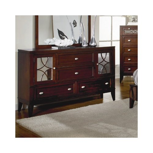Bundle-00 Woodbridge Home Designs Simpson 4 Drawer Combo Dresser (2 Pieces)