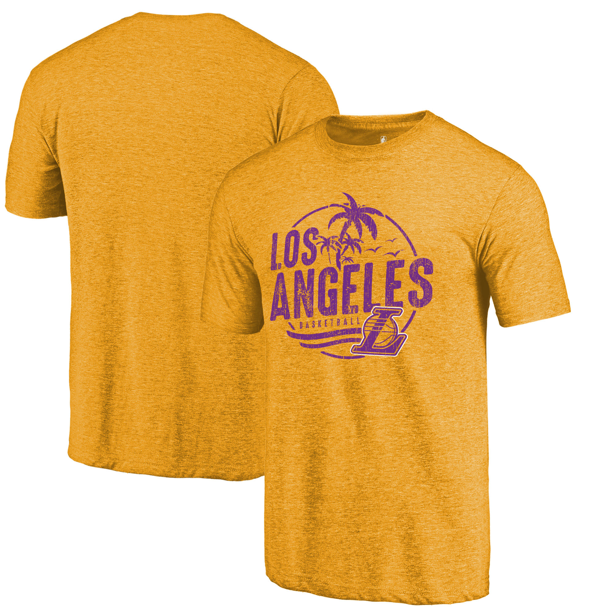 Los Angeles Lakers Fanatics Branded Hometown Collection La Surf Tri-Blend T-Shirt - Gold