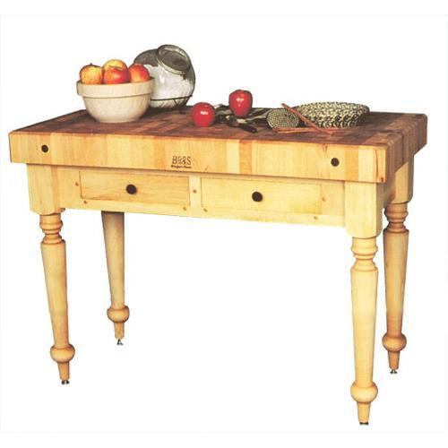 John Boos Solid Maple Kitchen Work Table/Island (Alabaster)
