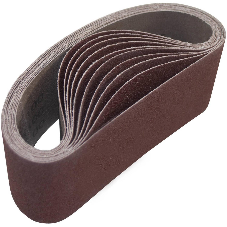 "ALEKO 3"" x 18"" 100 Grit Aluminum Oxide Sanding Belt, 10-Pack by ALEKO"