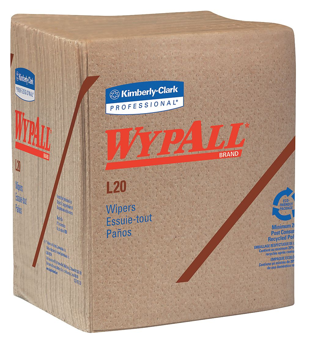 Kimberly-Clark - 47000 - Wypall WypAll L20 Natural Kraft Wipers - Wipe - 12.50 Width x 14.40 Length - 68 / Packet - 12 /