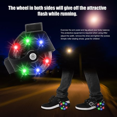 Flashing Roller Skates (Colorful Flashing Small Whirlwind Pulley Adjustable Simply Roller Skating)