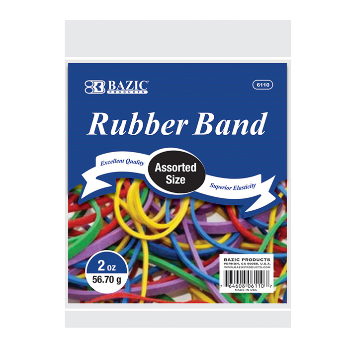 (Price Case of 36)Bazic Products 6110-36 2 Oz.  56.70 G Assorted Sizes And Colors Rubber Bands by Bazic Products